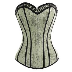 I Glam Womens Gorgeous Floral Corset Lace Up Boning Bustier  16.99 Top  Bustier, Corset Tops dc275f59ac