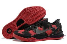 Nike Zoom Kobe 8 (VIII) Basketball Shoes Black Red Style 555035-709