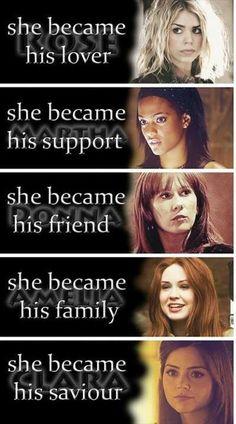 Companions.  Rose, Martha , Donna , Amy & Clara