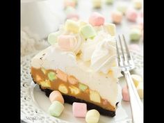 This No Bake Peanut Butter Marshmallow Square Cheesecake is a fun twist on a classic Christmas square! An easy dessert your guests will rave over! (VIDEO)