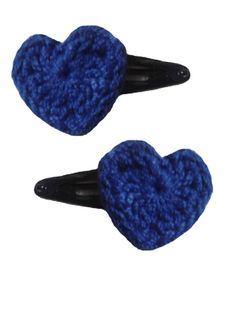 Blue Heart Hair Pins for your Perfect Look!!! http://www.indiebazaar.com/shop/pankhcreations