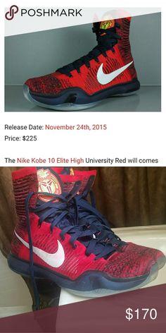 new style c43e5 e48f8 ... wholesale kobe 10 university red . 23d5c 54138