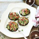 Herb & ricotta stuffed mushrooms