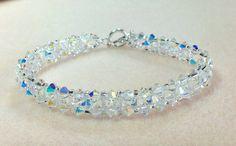 Swarovski Crystal Bracelet Bridal Bracelet  by JewelryCharmers, $42.00