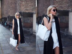 Camilla A from Lookbook.nu Zara Bag, Top, Shorts, H Shoes And Coat