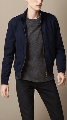 Navy Bomber Jacket by Burberry. Buy for $495 from Burberry