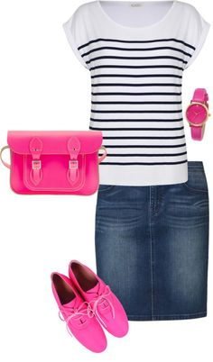 """""""pop of pink"""" by hannahtay96 ❤ liked on Polyvore"""