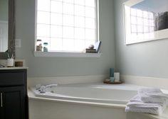 New Bathroom Mirror Makeover Sea Salt Ideas Tuscan Bathroom, Bathroom Bath, Diy Bathroom Decor, Budget Bathroom, Small Bathroom, Master Bathroom, Bathroom Ideas, Bathroom Updates, Bath Decor