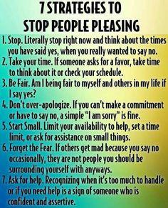7 strategies to stop people pleasing