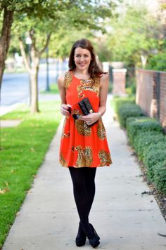 Amy Havins from Dallas Wardrobe featuring minkpink and Halogen at Nordstrom and Cartier. Black Tights Outfit, Dallas Wardrobe, Swing Dress, Gorgeous Women, Minkpink, Winter Outfits, Hosiery, Style Inspiration, Summer Dresses