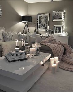 8 Small Living Room Ideas That Will Maximize Your Space Best Living Room Ideas – Luxus Wohnzimmer Dekor & Möbel Luxury Living Room, Home, Apartment Living Room, Apartment Decor, Living Room Grey, Simple Bedroom, Silver Living Room, Luxury Living Room Decor, Living Decor