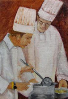Artists Of Texas Contemporary Paintings and Art - Teaching Chef by Barbara Haviland Chefs, Executive Chef, Contemporary Paintings, Pet Portraits, Watercolor Art, Original Art, Illustration Art, Fine Art, Teaching