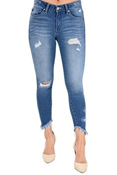 Liverpool Jeans Company Womens Remy Hugger Skinny Mid Rise with Shaping and Slimming 4-Way Stretch Denim Jean