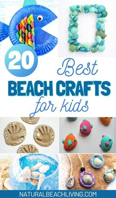 Find the best Beach Themed Crafts for Kids here. Everything from Shell crafts, Sand Slime, ocean critters, sand crafts, and so much more. These Beach Crafts for Kids are perfect for a summer activity. Preschool Beach Crafts, Shell Crafts Kids, Summer Preschool Themes, Beach Crafts For Kids, Summer Camp Themes, Summer Camp Activities, Summer Camp Crafts, Preschool Art Activities, Ocean Crafts