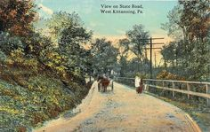 1912 postcard of pine hill Rd., Kittanning, Pa.