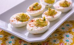 Deviled Eggs with Shallots & Capers