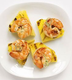Grilling pineapple brings out the #fruit's sweetness. Try it as a base for grilled shrimp! #myplate