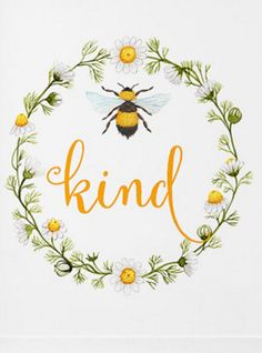 ≗ The Bee's Reverie ≗  Wall Art Printable, Bee Kind watercolor by ThePrintablePlanners on Etsy
