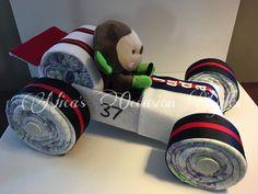 Luier Cake raceauto van NicasOccasionGifts op Etsy