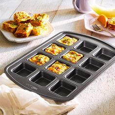 The Pampered Chef, Mini Frittata, Snacks, Snack Recipes, Brownie Pan, Fingerfood Party, Brunch, Party Finger Foods, Party Buffet