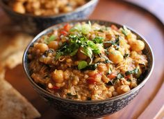 Thai Fusion Chickpea Stew - a hearty winter dish full of succulent Thai flavors and healthy proteins.