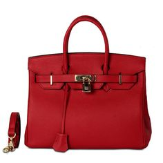 Hermes Birkin Style Genuine Leather Bag #bag #red #heel #CAMI #ankle #fashion #clothing #chic #boho #trend #trendy #trending #ootd #musthave