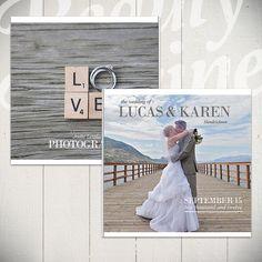 Wedding Album Template: Forever - 10x10 Wedding Book Template for Photographers via Etsy