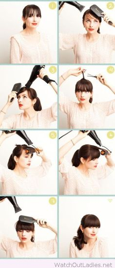 How-to style bangs tutorial
