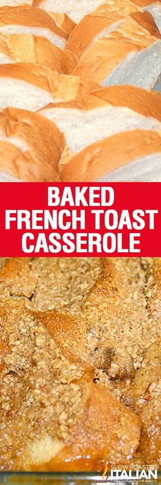 Overnight Baked French Toast Casserole - Prep the night before and throw it in the oven while you are getting ready. Easy breakfast recipe that your family will thank you for!