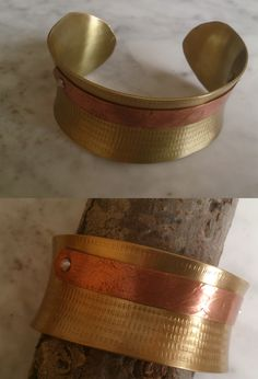De latón con cobre Cuff Bracelets, Jewelry, Copper, Bangle Bracelets, Jewlery, Jewerly, Schmuck, Jewels, Jewelery