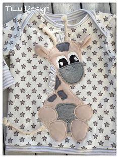 Nähanleitungen Kind - Applikationsvorlage Giraffe - ein Designerstück von tilu-design bei DaWanda