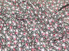 Rose Floral 100% Cotton Poplin Dress Fabric | Fabric | Dress Fabrics | Minerva Crafts