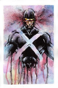 cyclops by XxRainXChildxX cyke x-men art Comic Book Characters, Marvel Characters, Comic Character, Comic Books Art, Comic Art, Character Design, Marvel Heroes, Marvel Comics, Spiderman Pictures