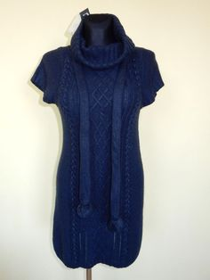 DRESS TUNIC SWEATER BREND DDP BLUE Sz.S, M France NEW! #DDP #Tunic #Casual