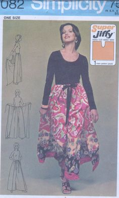 EASY Super Jiffy Wrap Pant Skirt Palozzo Woman Pattern One Wrap Pants, Skirt Pants, Lace Skirt, Woman, Skirts, Easy, Pattern, Fashion, Moda