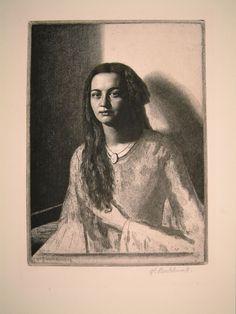 Una, 1929 by Gerald Leslie Brockhurst, (1890-1978)