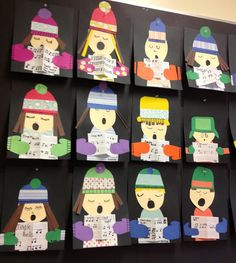 Miss Tweedle: Christmas Kids Art- Winter Carollers