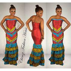 African dress by ChimziFashion on Etsy ~African fashion, Ankara, kitenge, African women dresses, African prints, African men's fashion, Nigerian style, Ghanaian fashion ~DKK