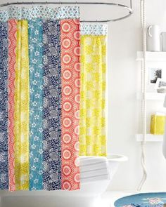 Kimono Reversible Shower Curtain Bright And Sunnynice Way To Wake Up