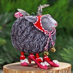 Mini Barbara Black Sheep Ornament