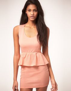for work - Jersey Peplum Dress - not in pastel