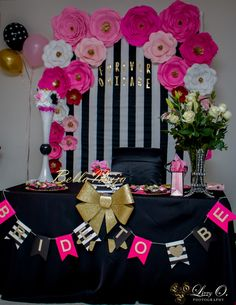 Wedding themes music bridal shower 33 Ideas for 2 Brunch Party Decorations, Bridal Shower Decorations, Birthday Decorations, Wedding Decorations, Wedding Themes, Wedding Stage, Wedding Music, Pink Bachelorette Party, Kate Spade Party