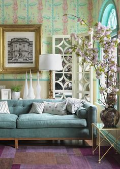 Interior Design by Heidi Pribell Interiors. why do I love this! It's downright garish. but so beautiful and bright and happy.
