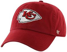 pretty nice 9aa5a 86151 NFL Kansas City Chiefs  47 Clean Up Adjustable Hat, Red, One Size Soccer