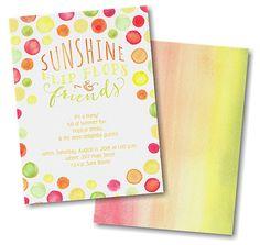 Sunshine Dots Party Invitation