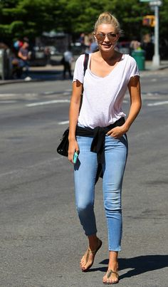 Gigi Hadid Spotted in Mother. These jeans are cropped with zippers, classic 5-pocket styling, front zip closure and slim fit thought the thighs and calves