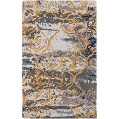 Found it at Wayfair - Pacific Holly Hand-Tufted Charcoal Gray/Gold Area Rug
