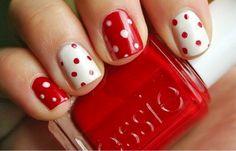 Polka dot nails!!!                                                                                                                                                      More