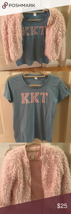 Scream Queens - Chanel Oberlin Halloween costume Celebrate Chaneloween this year with a Scream Queens Chanel Oberlin Halloween costume bundle! Never worn Kappa Kappa Tau sorority tshirt in ladies size Small (this arrived late from Amazon so I ended up having to make my own tee).  Pink faux fur jacket from Forever 21 in a kids size 14 (fits women XS) only worn once. Forever 21 Other
