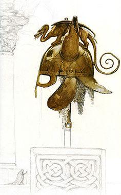 Alan Lee - Tuatha De Danaan helmet
